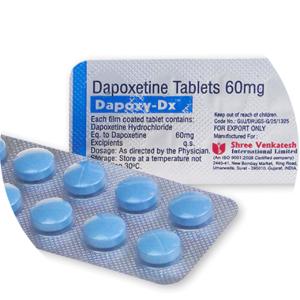 des blisters des tabletes avec la substance active dapoxsetine