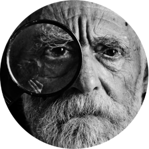 Un vieil homme regardant des question sur Yohimbine